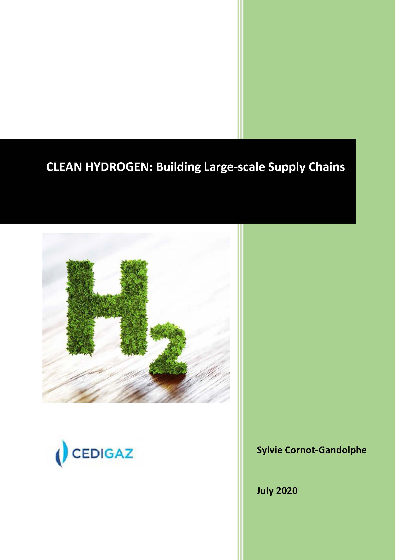 CLEAN HYDROGEN: BUILDING LARGE-SCALE SUPPLY CHAINS